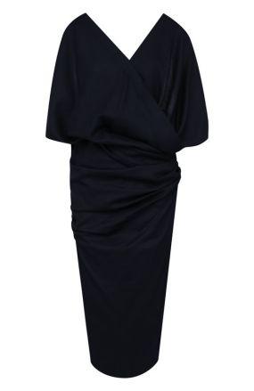 Шерстяное платье с V-образным вырезом и открытой спиной Jacquemus