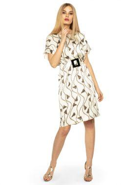 Платье LAME DE FEMME Шелл 3F7L-W9 цвет бежевый