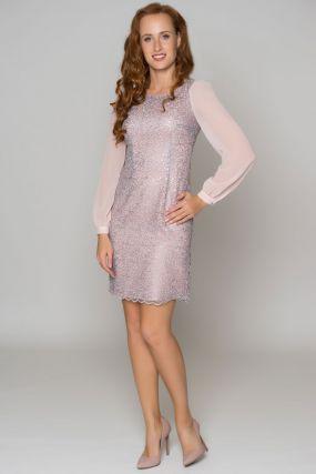 Платье LAME DE FEMME Квази 33TL цвет серый-розовый