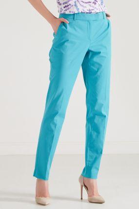 Голубые брюки-сигареты