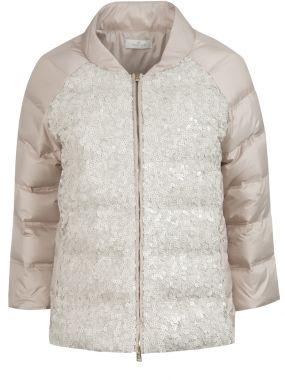 Утепленная куртка с пайетками