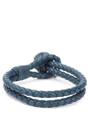 Плетеный браслет из кожи