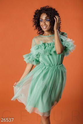 Пышное платье-сетка