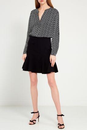 Черная юбка-годе