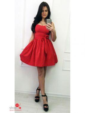 Платье Milirud, цвет красный, белый