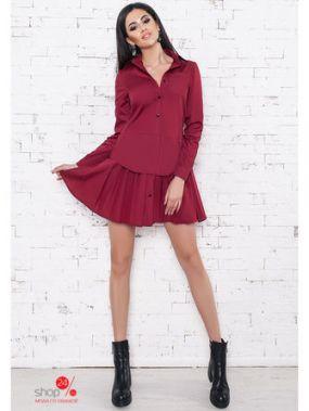 Платье B&H, цвет бордовый