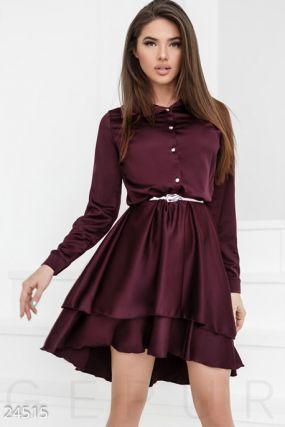 Шелковое каскадное платье