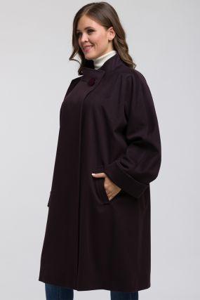 Итальянское пальто на большой размер из шерсти Loro Piana