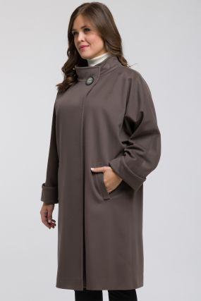 Пальто реглан из шерсти с воротником-стойкой