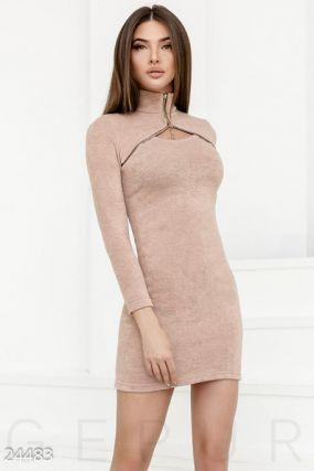 Оригинальное теплое платье