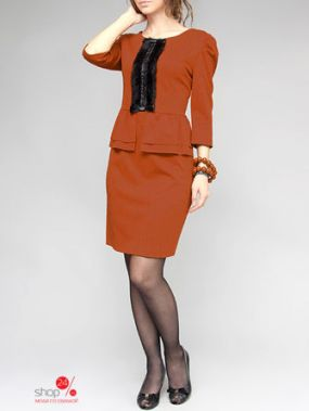 Платье LEJOLE, цвет оранжевый