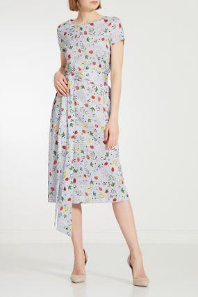 Трикотажное платье с принтом