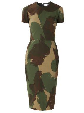 Платье-футляр в стиле милитари