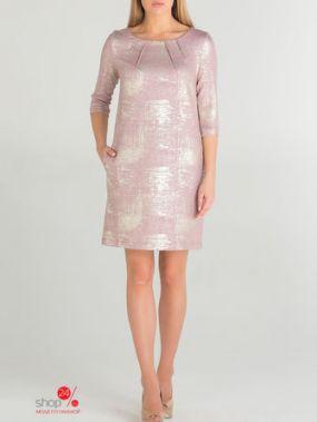 Платье Eva Davidova, цвет светло-розовый, золотой