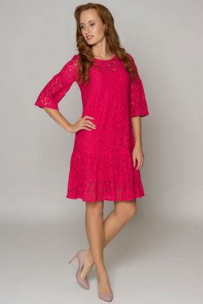 Платье POZA Ария цвет ярко-розовый