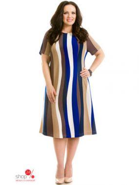 Платье Prima Linea, цвет синий, бежевый