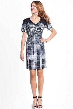Платье POTIS&VERSO Баяна 332H цвет черный-белый