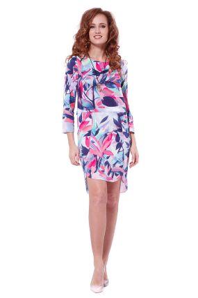 Платье POTIS&VERSO Кики 327К цвет розовый разноцветный