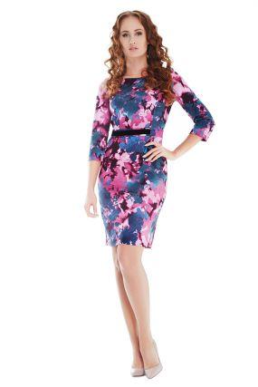 Платье POTIS&VERSO Лиф 317I цвет розовый-фиолетовый