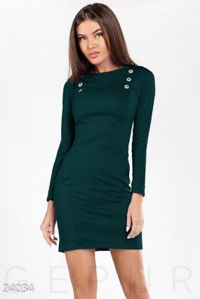 Платье с эполетами