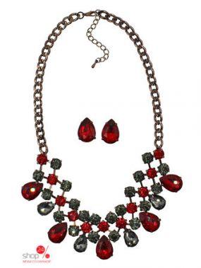 Комплект украшений Taya, цвет коричневый, красный
