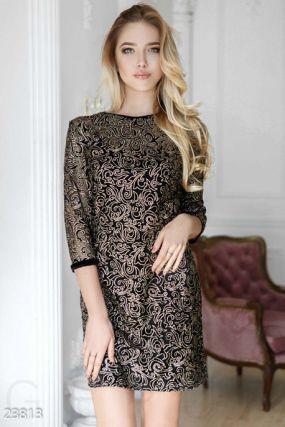 Прозрачное коктейльное платье