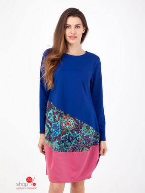 Платье Adzhedo, цвет синий, розовый