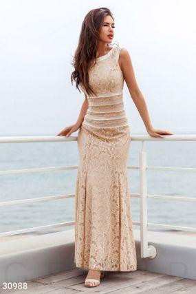 Облегающее длинное платье