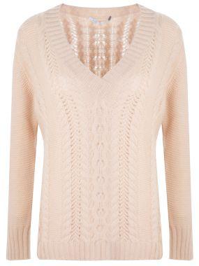 Пуловер вязаный кашемировый