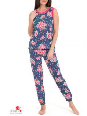 Комплект: топ, брюки Tenerezza, цвет синий, розовый