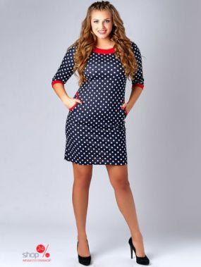 Платье WASABI, цвет темно-синий, белый