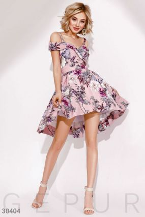 Цветочное вечернее платье