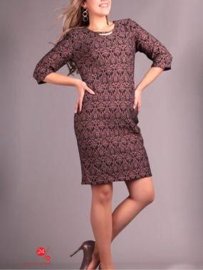 Платье AJIOTAJE, цвет коричневый, черный