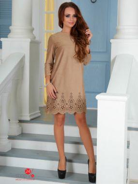 Платье BRIOLIN, цвет светло-бежевый