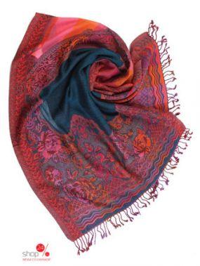 Палантин, 70*180 Ганг, цвет синий, красный