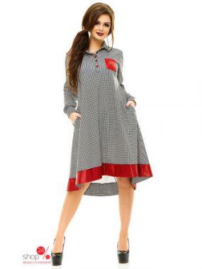Платье Funky, цвет белый, черный, красный