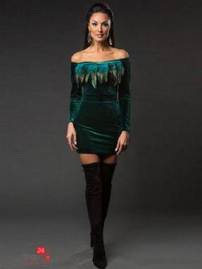 Платье VERONIKA MILTON, цвет зеленый