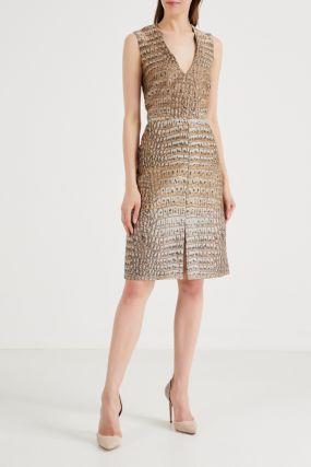 Платье с принтом под змеиную кожу