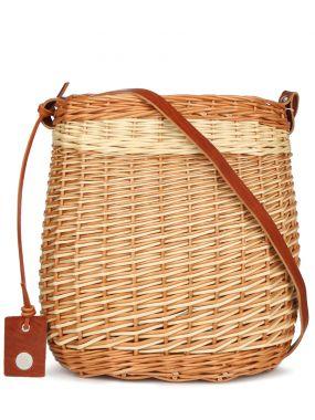 Плетеная сумка-корзина