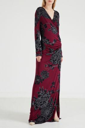 Шелковое платье макси Maeva