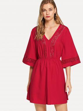 Платье для вязания кружевной V Veck