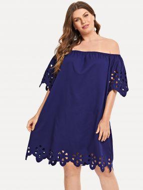 Плюс размеры платье с открытыми плечами