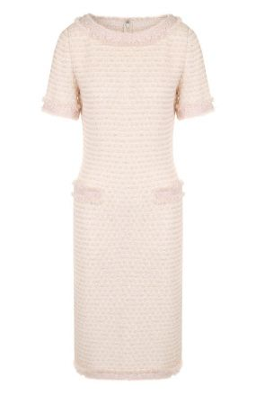 Приталенное твидовое платье с коротким рукавом St. John