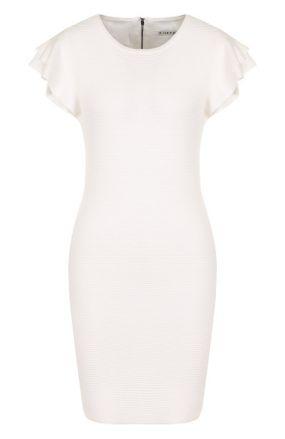 Приталенное мини-платье с оборками Alice + Olivia