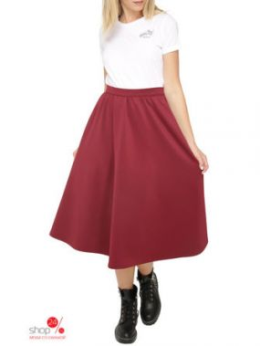 Юбка Lavana Fashion, цвет бордовый