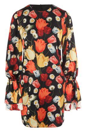 Шелковое мини-платье с цветочным принтом Mother Of Pearl