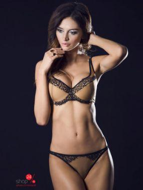 Бюстгальтер Caprice Lingerie, цвет коричневый, черный