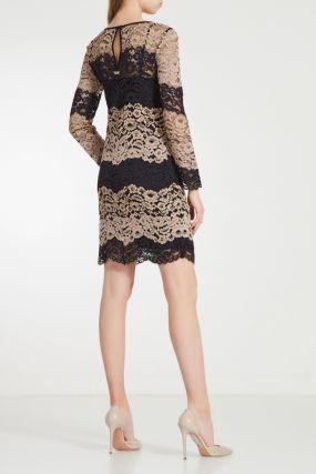 Кружевное платье в полоску