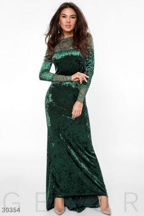 Длинное бархатное платье