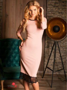 Платье LA Fashion, цвет бледно-розовый